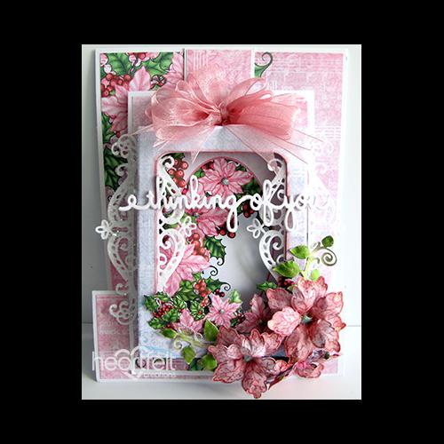 Beautiful Pink Poinsettias