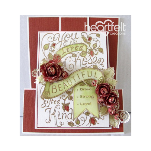 Beautiful Red Rose Z Slider Card