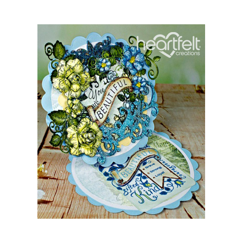 Beautiful Yellow And Blue Rose Easel Card