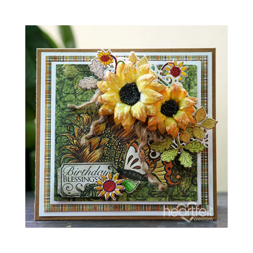 Birthday Blessings Sunflowers
