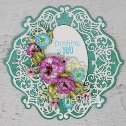 Blossoms Shaped Card