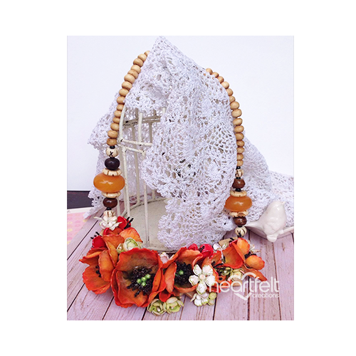 Blazing Poppy Necklace
