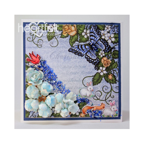 Blue Floral And Critters