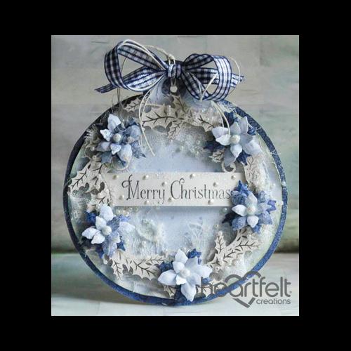 Blue Poinsettia Christmas Ornament