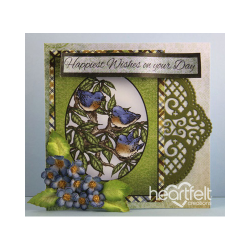 Bluebirds And Blue Floral Wishes