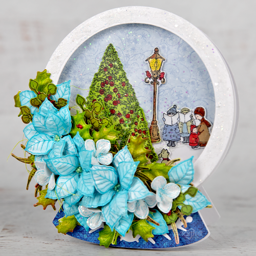 Blue Poinsettia Dome