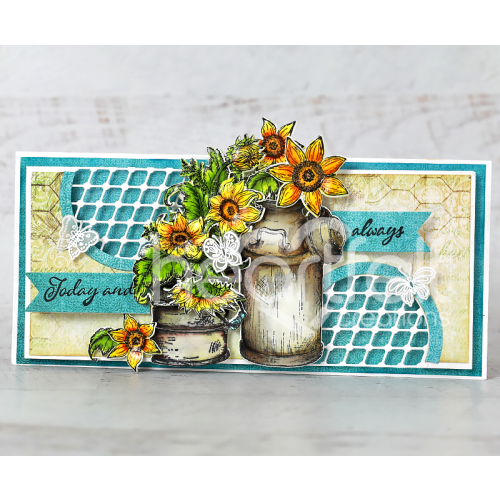 Butterflies and Rustic Sunflowers