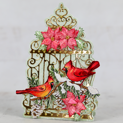 Caged Christmas Cardinals
