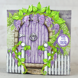 Cascading Wisteria Swing Card