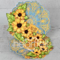Cascading Sunflowers