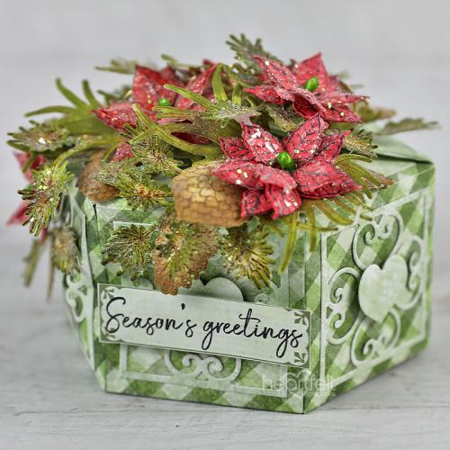 Christmas Poinsettia Gift Box