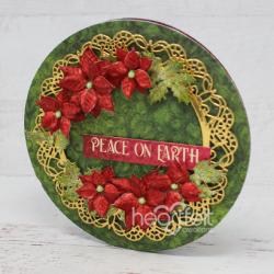 Circling Poinsettias