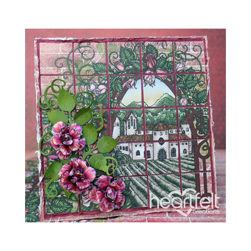 Classic Rose Mosaic Card