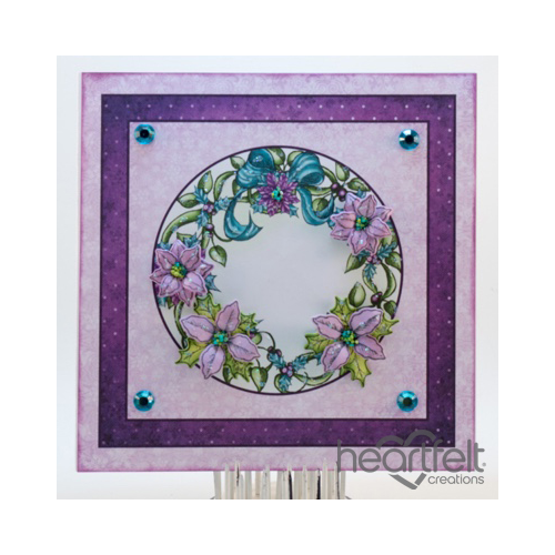 Clean And Simple Poinsettia Wreath Card