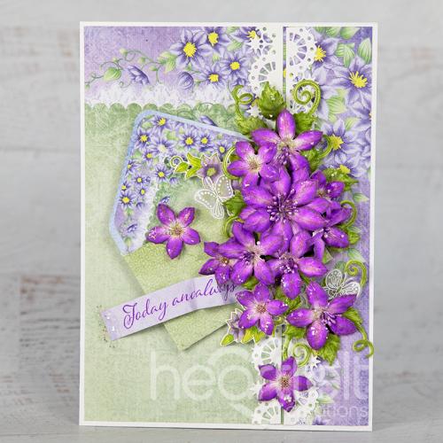 Clematis Envelope Card