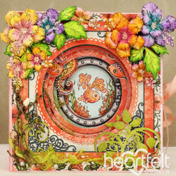 Coral Reef Layered Card