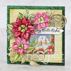 Cozy Festive Poinsettias