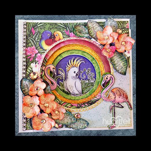 Colorful Tropics Layered Card