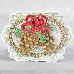 Decorative Snowy Pine Cone