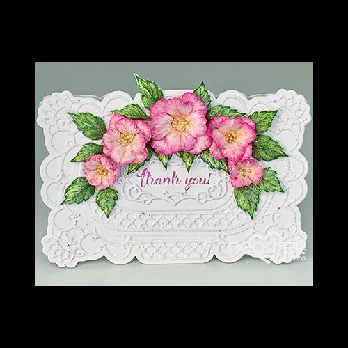 Decorative Shaped Blossom Card