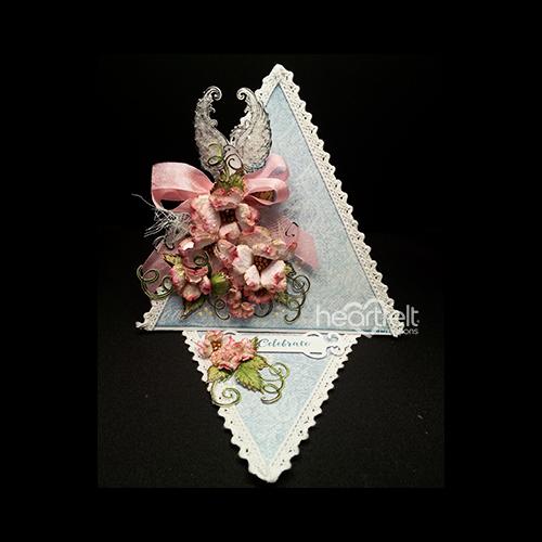 Dogwood And Dove Triangle Card