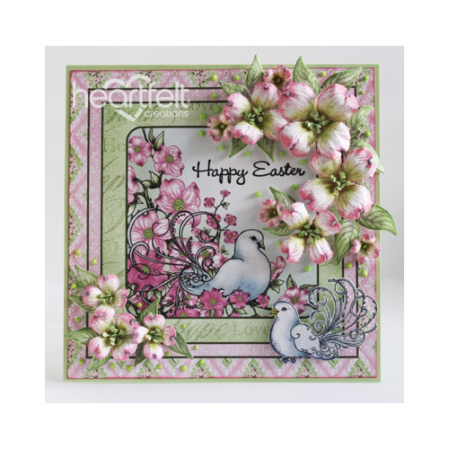 Easter Doves And Dogwood