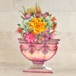 Elaborate Floral Urn