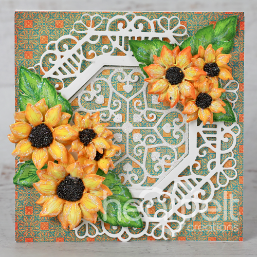 Elegantly Framed Sunflowers