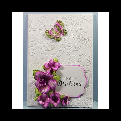 Embossed Birthday Petunia
