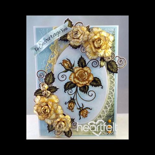 Encouraging Yellow Blushing Roses