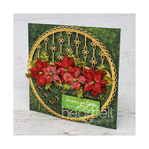 Eyelet Christmas Poinsettia