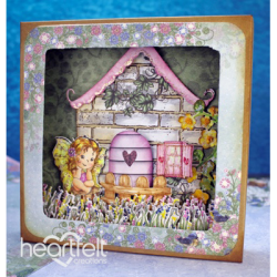 Fairy Cottage Shadowbox Card