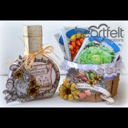Farmers Market Oil Jar And Basket