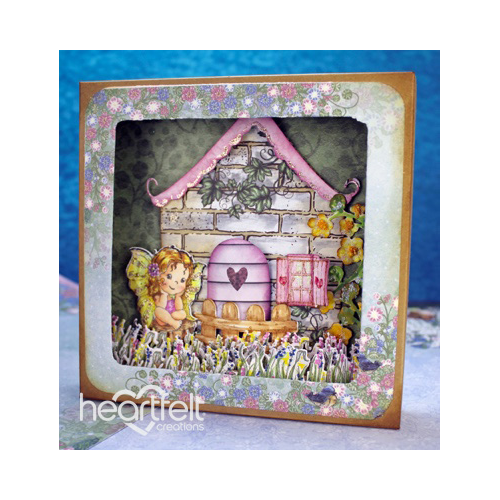 Fairy Cottage Shadowbox Card