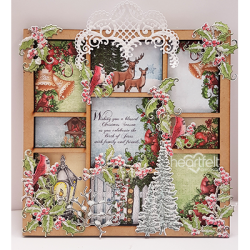 Festive Holly Shadow box