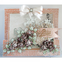Floral Burst Slider Card