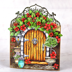 Floral Cottage Door