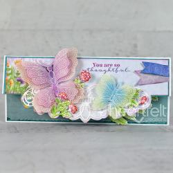 Floral Butterfly Slimline