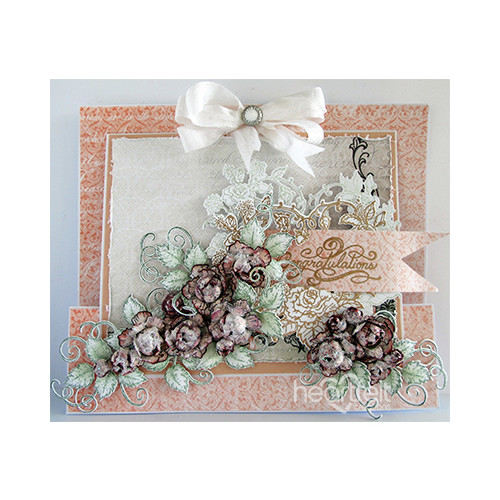 Floral Burst Slider Card