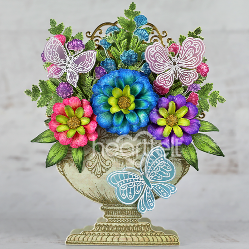 Floral Butterfly Urn