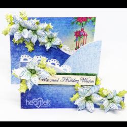 Folded Blue Poinsettia