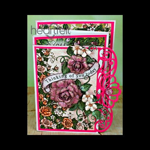 Four Panel Classic Rose Card
