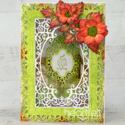 Frame a Card Vivid Roses