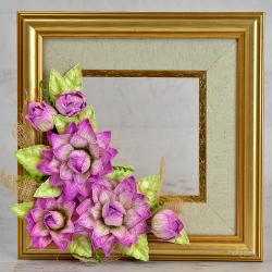Framed Dazzling Dahlia