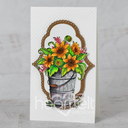 Framed Rustic Sunflowers