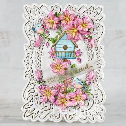 Friendly Floral Frame