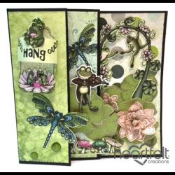 Froggie Hangout Flip Fold Card