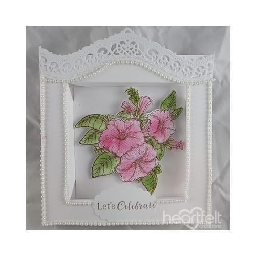 Framed Petunia Card