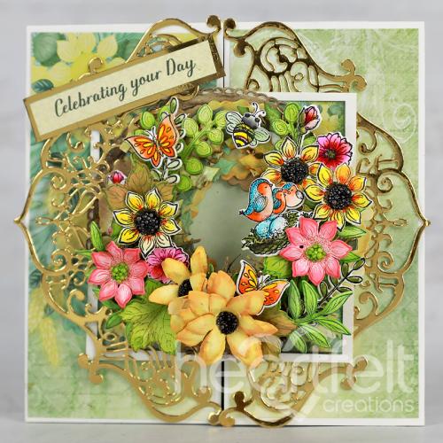 Gatefold Summer Wreath