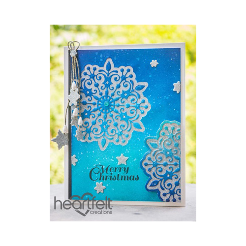 Glittered Snowflakes Christmas
